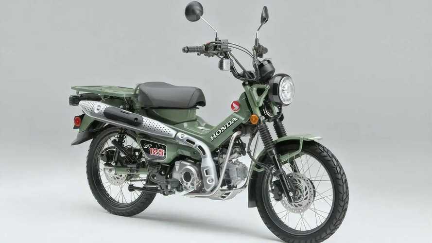 Honda CT125 2022 Pearl Organic Green Meluncur di Jepang