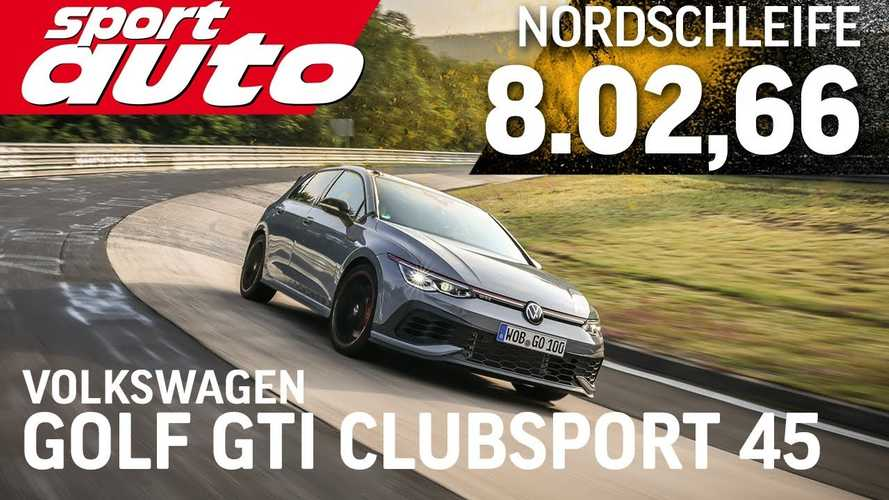 VW Golf GTI Clubsport 45 needs more than eight minutes to lap the Nurburgring