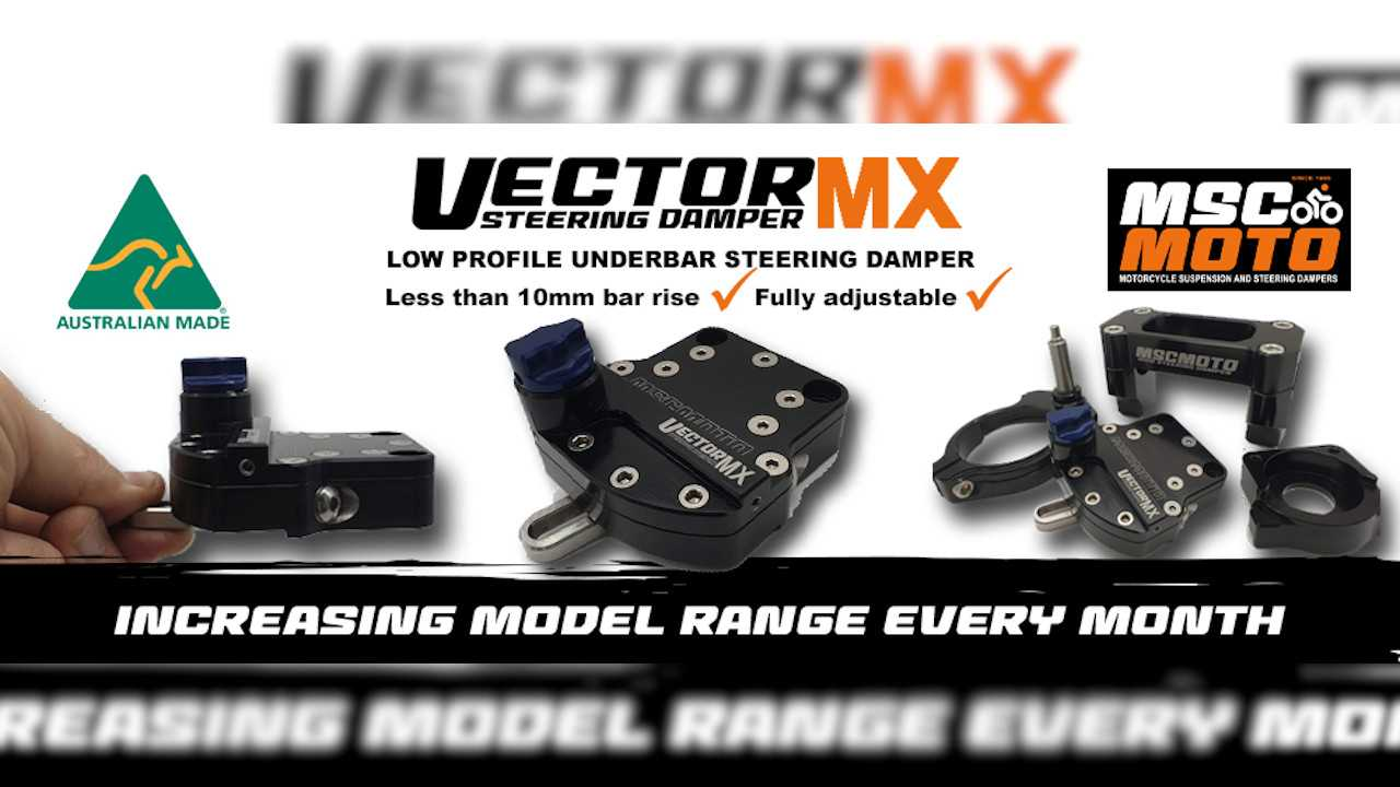 MSC Moto Launches New Steering Dampers For Enduro Bikes