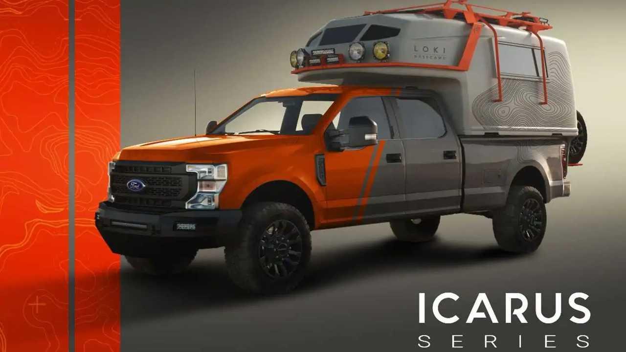 Loki Basecamp Icarus Truck Camper front three quarters
