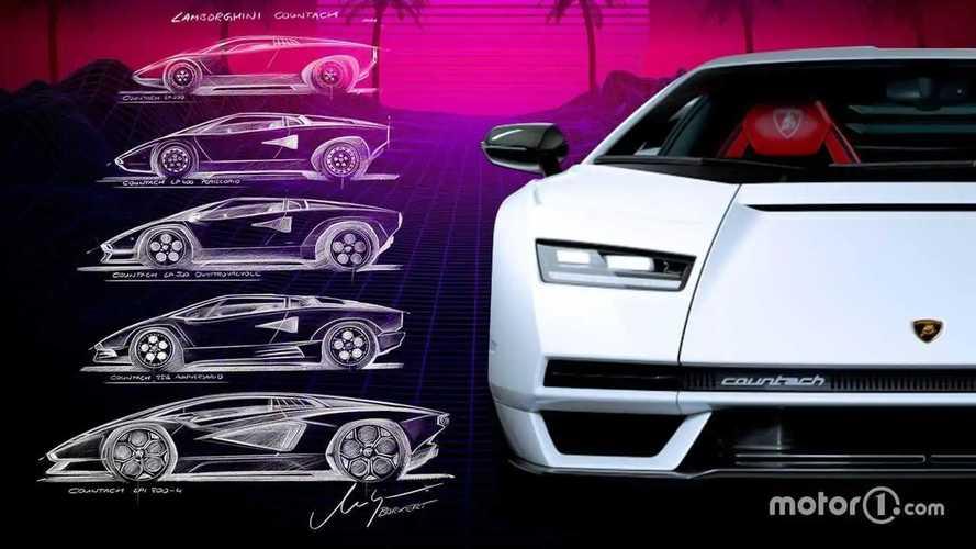 50 años del Lamborghini Countach: así han sido todos sus diseños