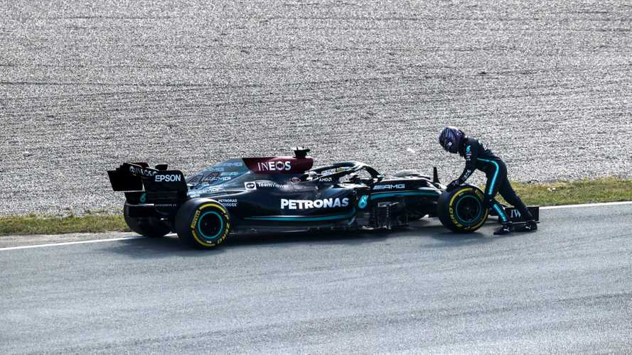 Hamilton 'on the back foot' after early end to Dutch GP practice