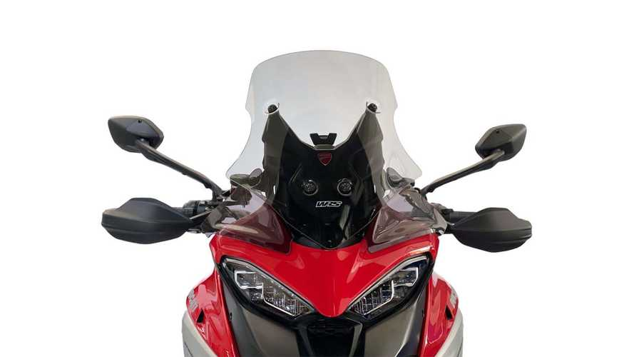 WRS Equips Ducati Multistrada V4 With Multiple Windscreens