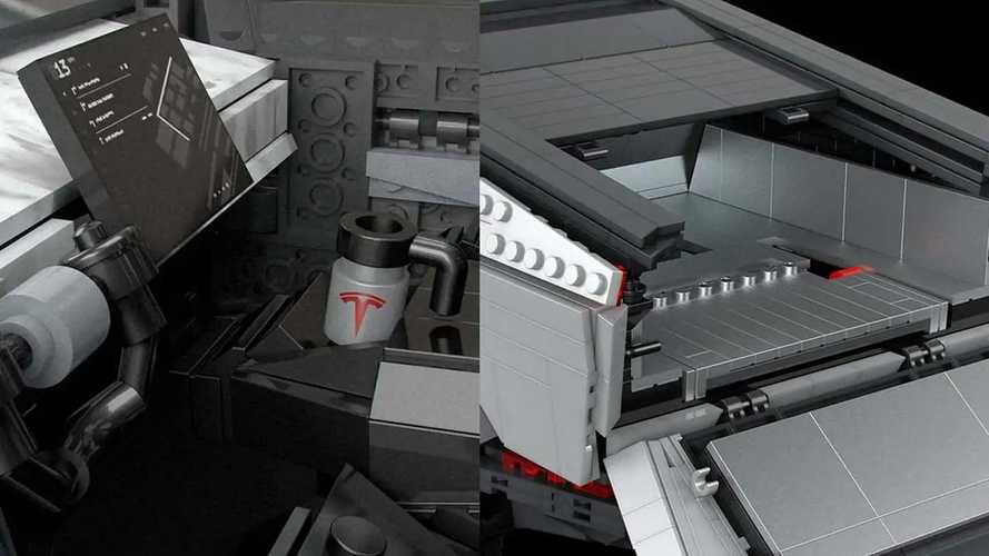 Tesla Cybertruck из 3283 пластмассовых блоков
