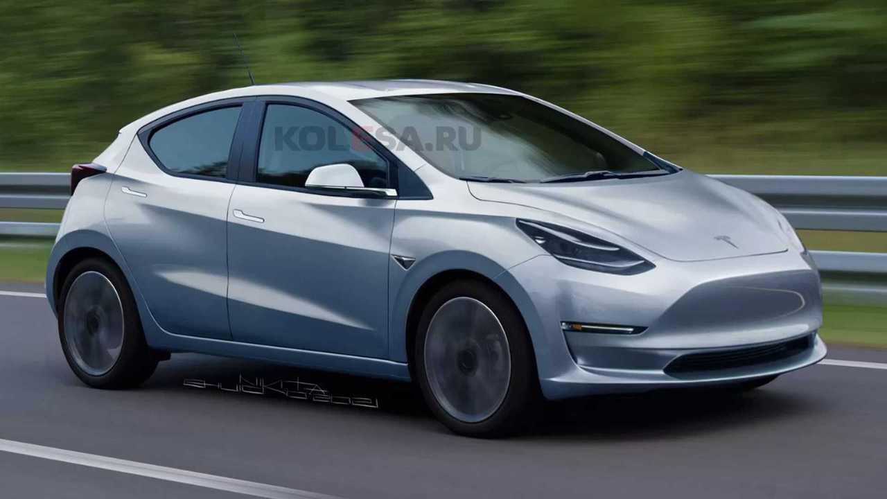 Tesla Model 2 als Rendering