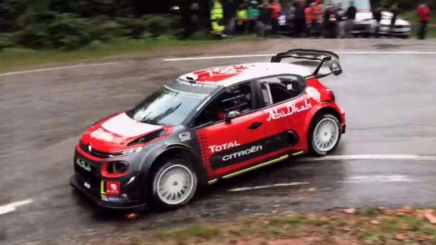 VIDÉO - Sébastien Loeb retrouve le volant d'une Citroën WRC