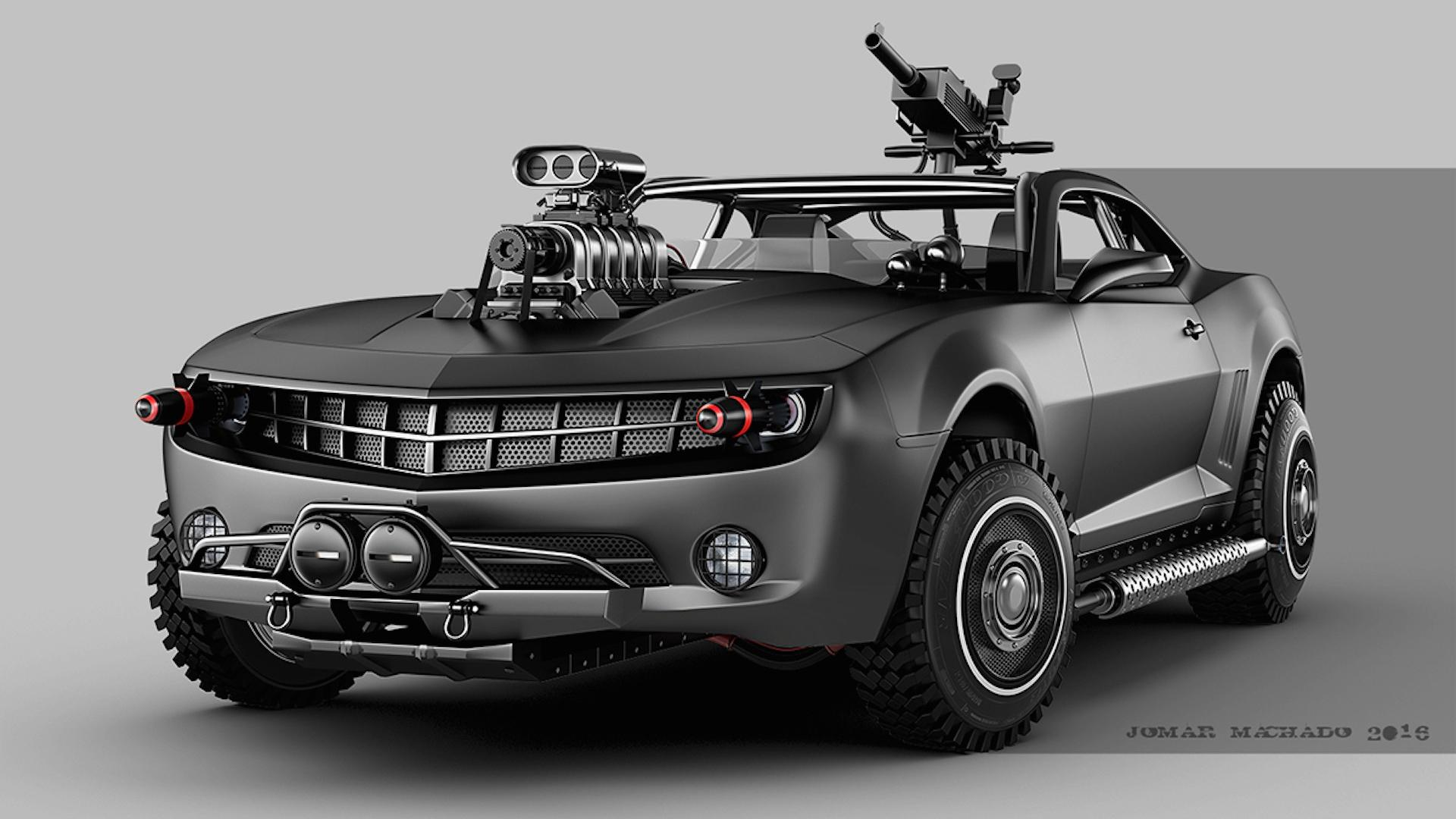 Artist Creates Crazy Post Apocalyptic Hovercraft Cars 65 Images
