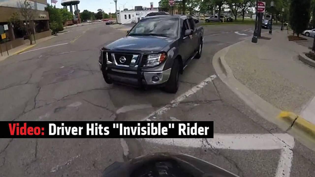 Video: Driver Hits Invisible Rider