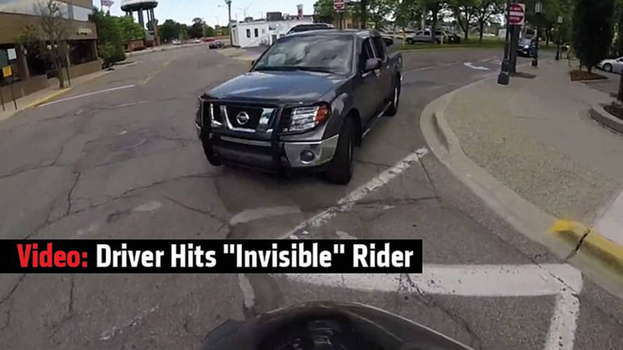 Video: Driver Hits Invisible Rider