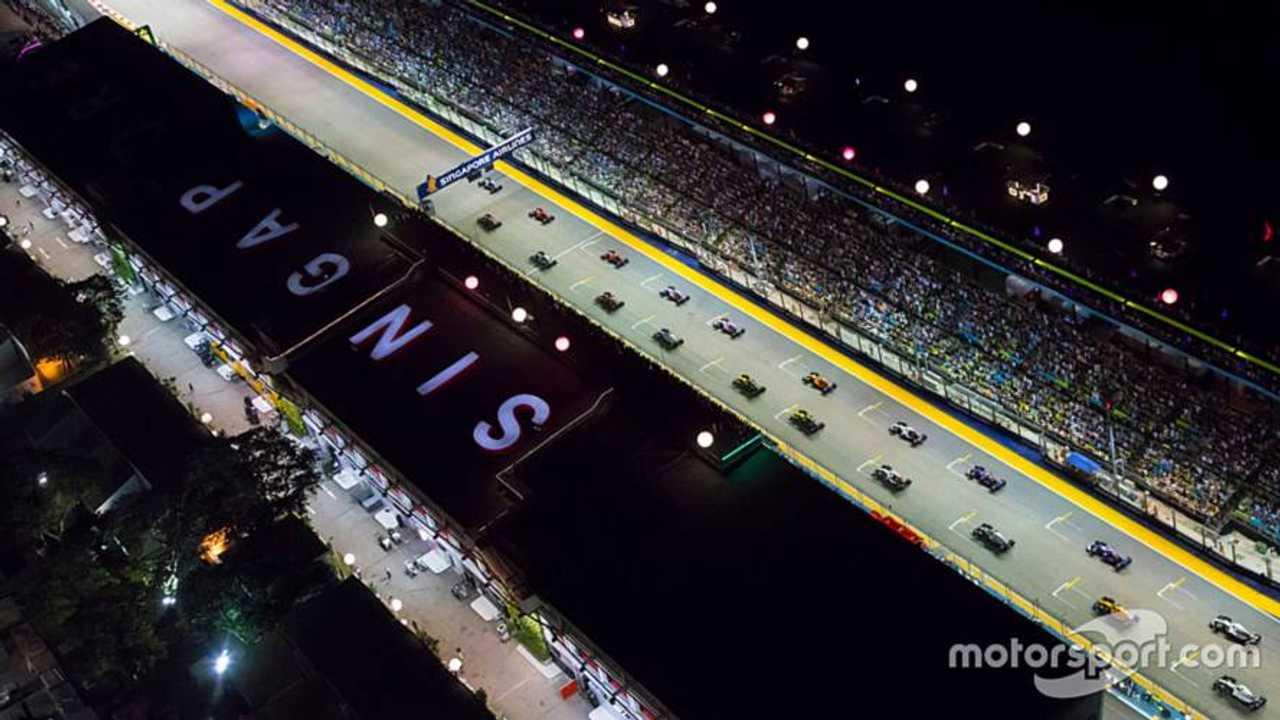 Singapore GP 2018 start of race