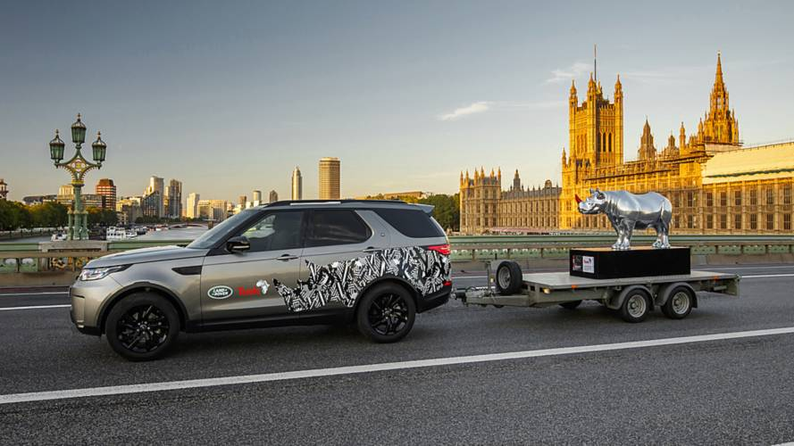 This Is Why Land Rover Towed A Chrome Rhino Into Trafalgar Square