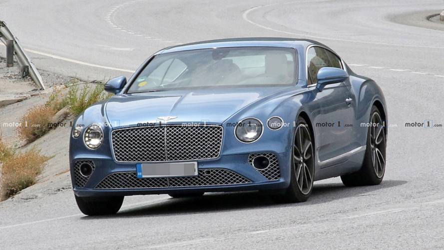 Гибридный Bentley Continental GT поймали на тестах