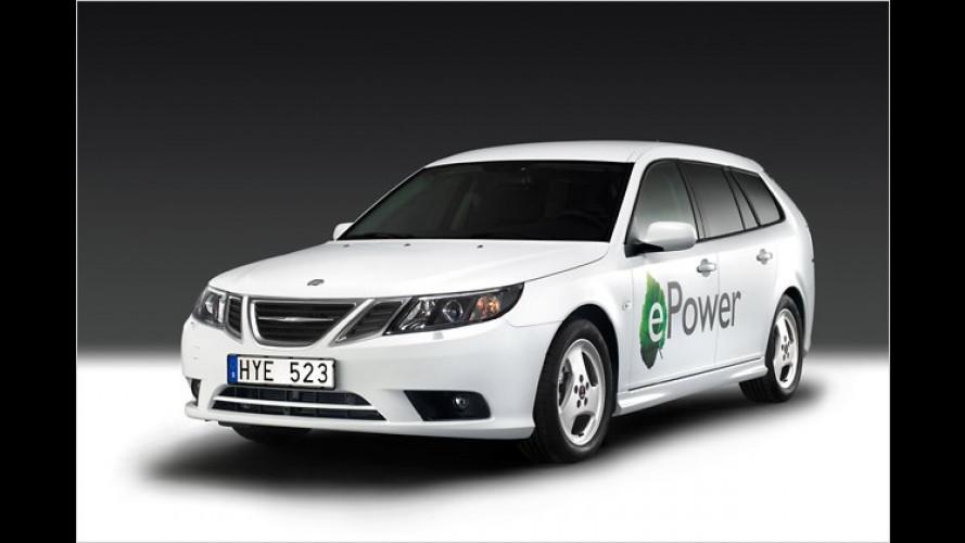 Saab 9-3 ePower (2010): Erstes Elektroauto von Saab in Paris