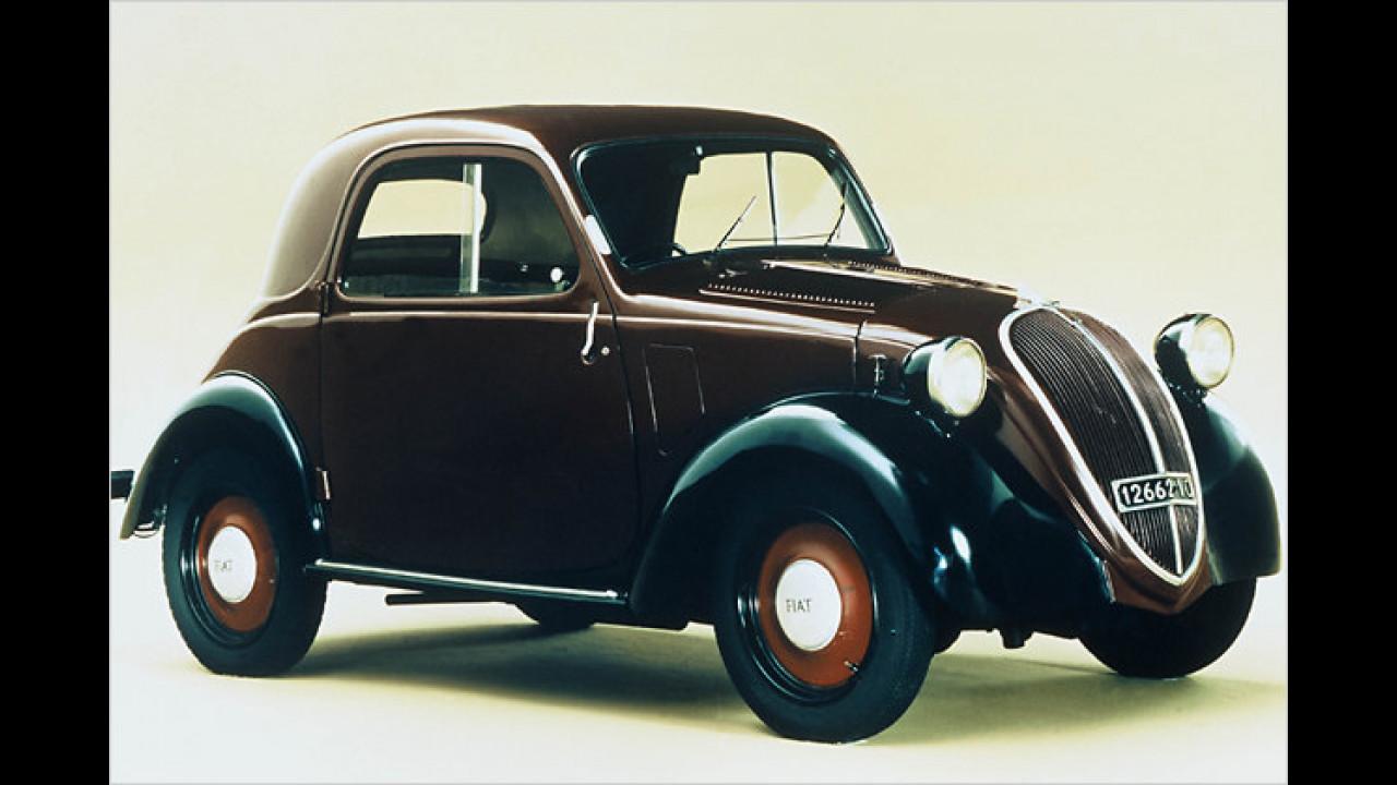 Gestern wie heute beliebt: Der Fiat 500 Topolino war 1937 zu Gast in der Schweiz