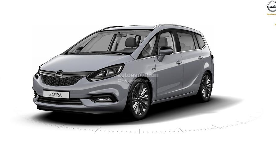 2017 Opel Zafira leaked photos