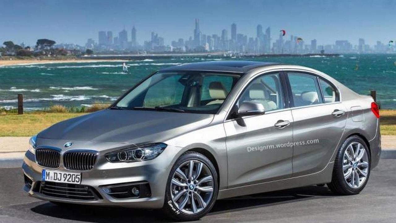 BMW FWD sedan rendering / RM Design
