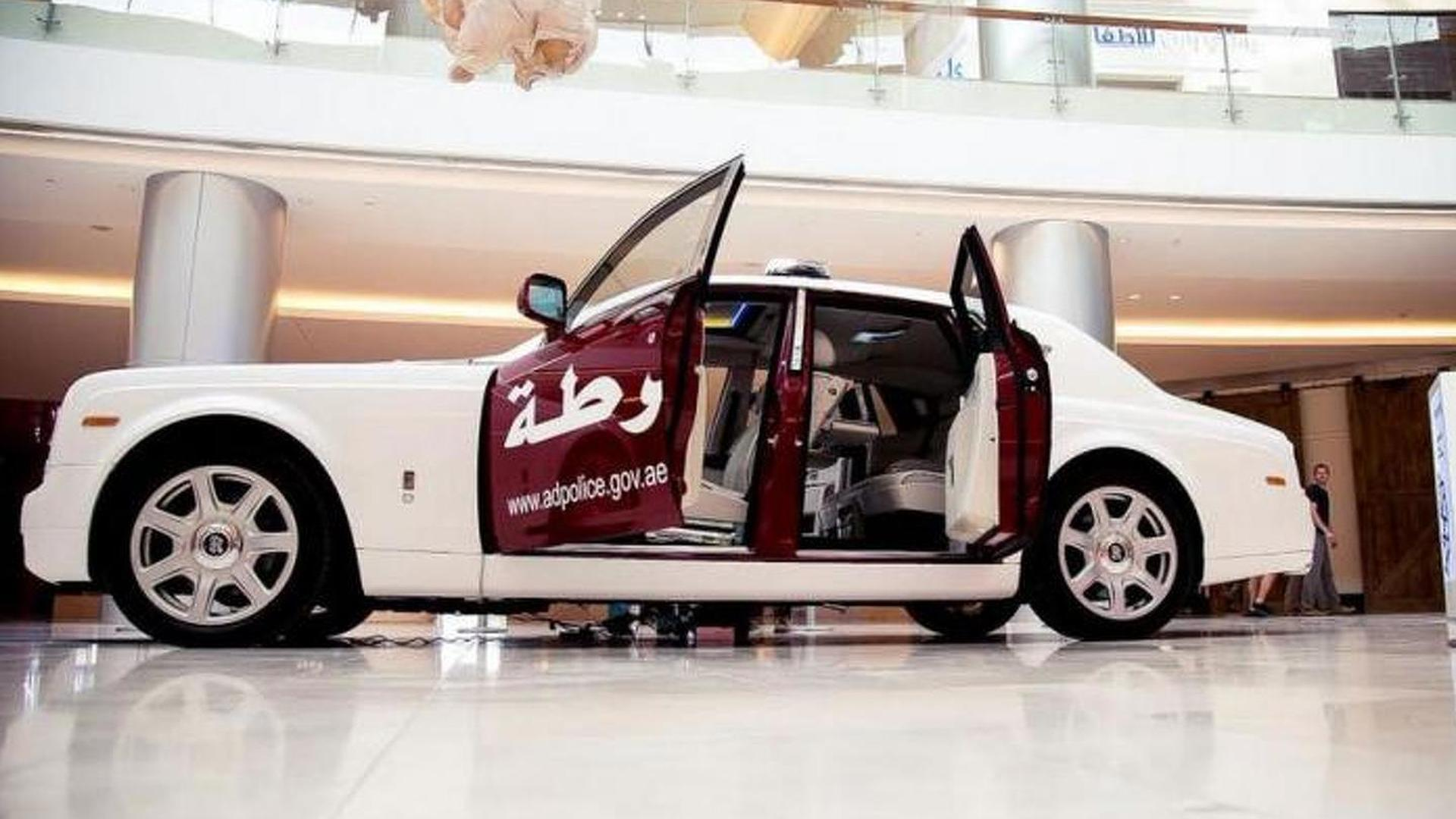 Rolls Royce Phantom Joins Abu Dhabi Police Fleet