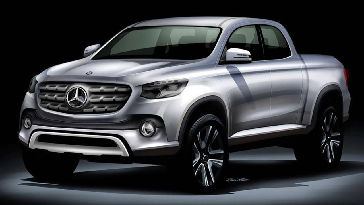 Rendu d'un pick-up Mercedes