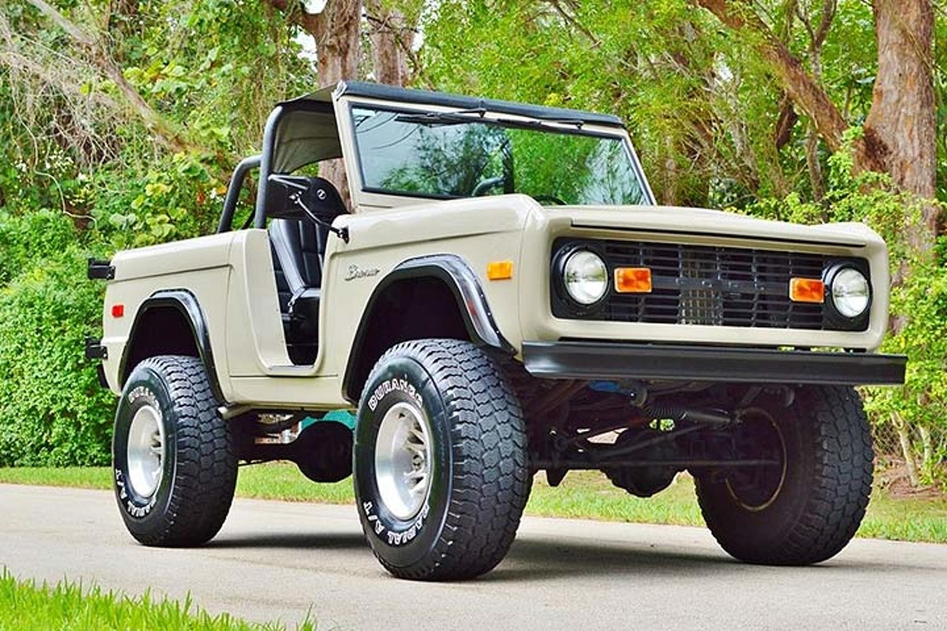 This ford bronco is a beefed up throwback to old school suvs