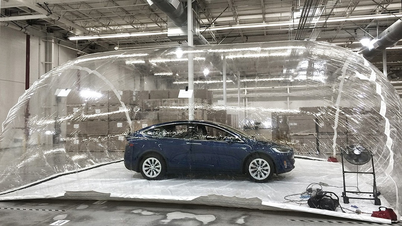 Tesla Model X with Bioweapon Defense Mode activated