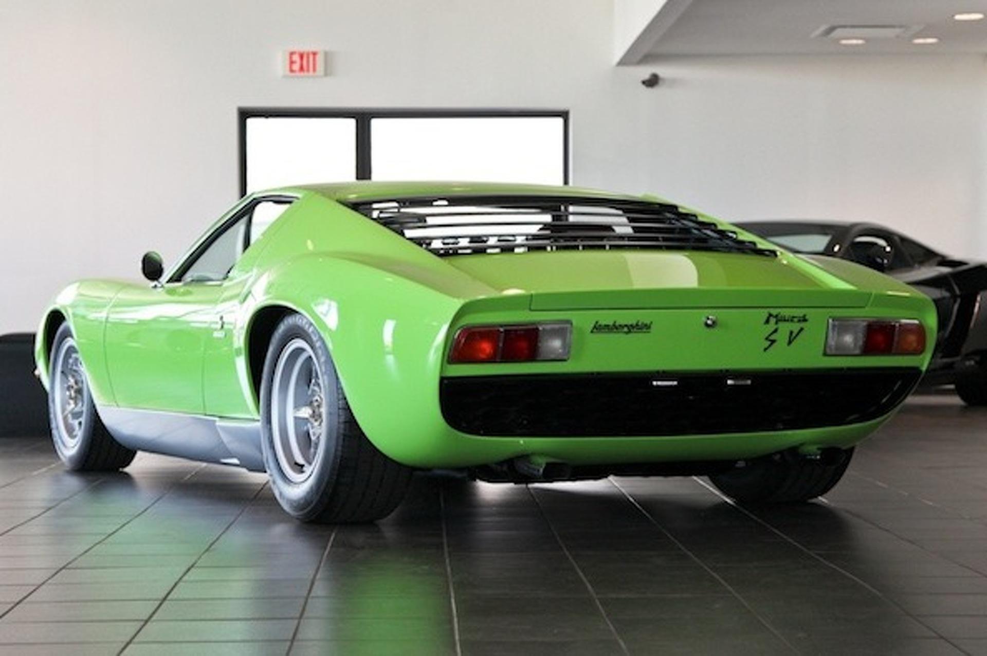For Sale 1969 Minty Green Lamborghini Miura Sv Motor1 Com Photos
