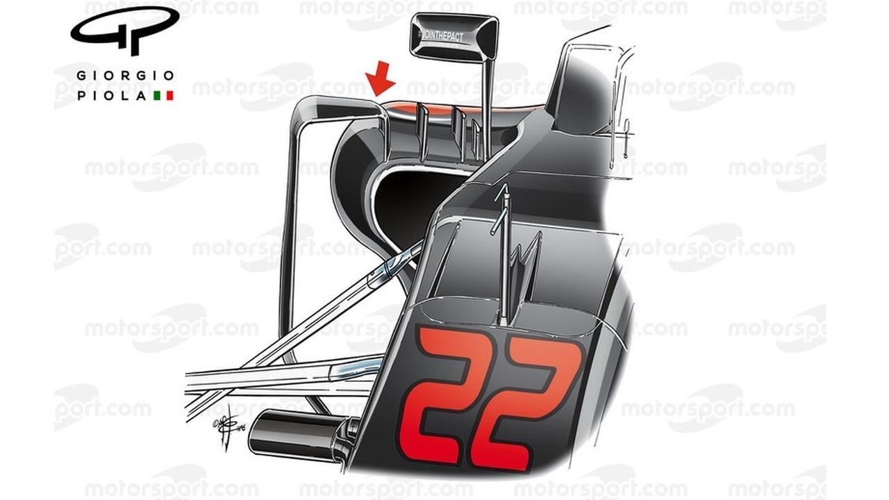 McLaren MP4/31 side pods, Sochi