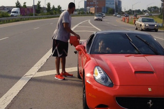 Evan Turner's Ferrari Ran Out of Gas on the Highway