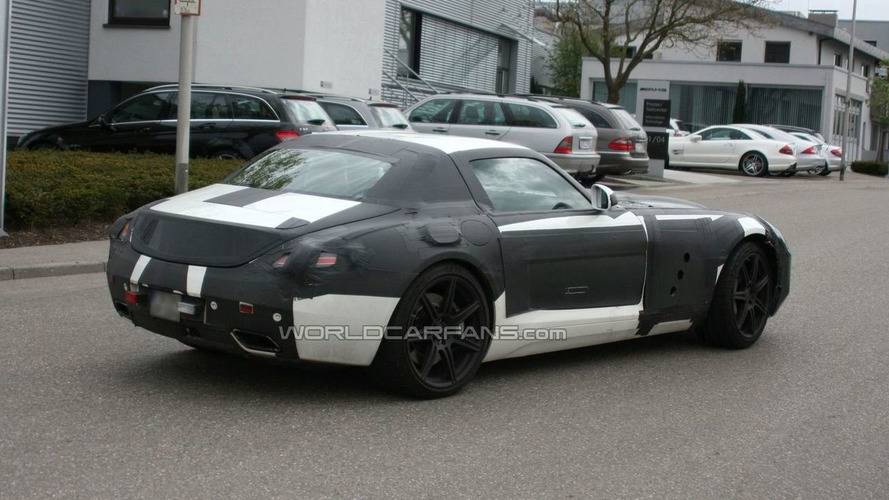 Mercedes SLS AMG Gullwing Spied in White for First Time - Sheds some camouflage