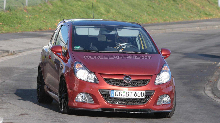 Opel Corsa OPC Nürburgring Edition latest spy shots