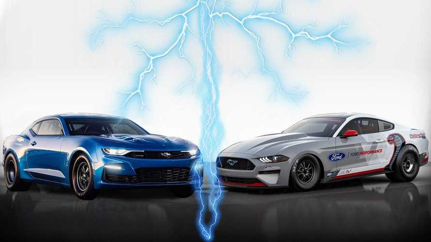 Faster Than Lightning? Mustang Cobra Jet 1400 Beats Chevrolet eCOPO Camaro