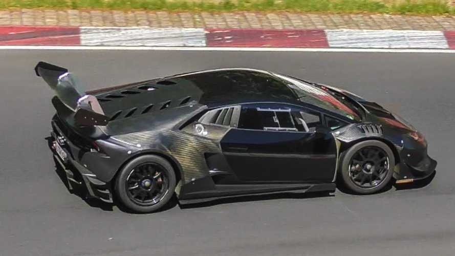 Lamborghini Huracan Super Trofeo hits Nürburgring with exposed carbon