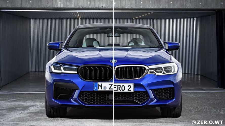 2021 BMW M5 facelift rendering