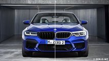 2021 BMW M5 facelift rendering