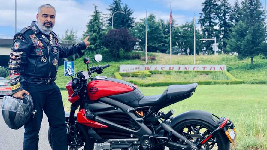 Harley-Davidson LiveWire Rider Completes Mexico-to-Canada Journey