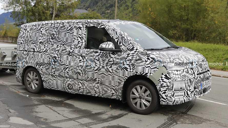 VW T7 Transporter Spy Photo