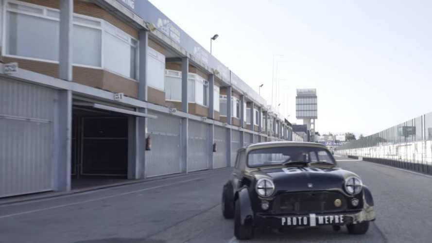 The Spanish racing legend with a hillclimb Mini