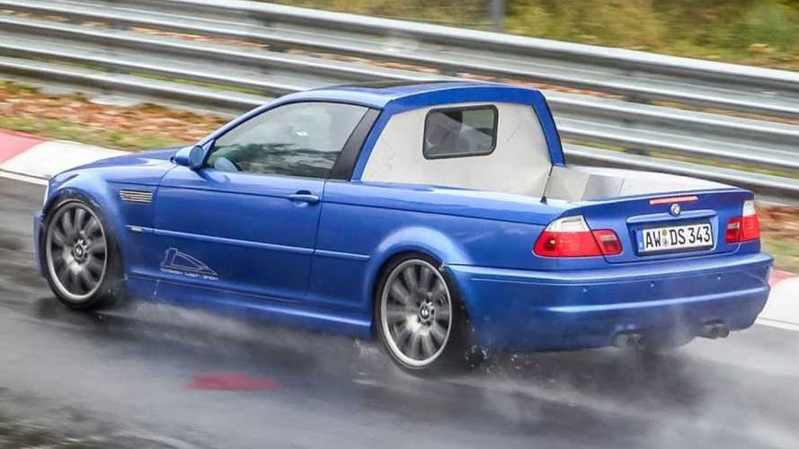 BMW 3 Series E46 pickup makes unusual appearance at the Nürburgring