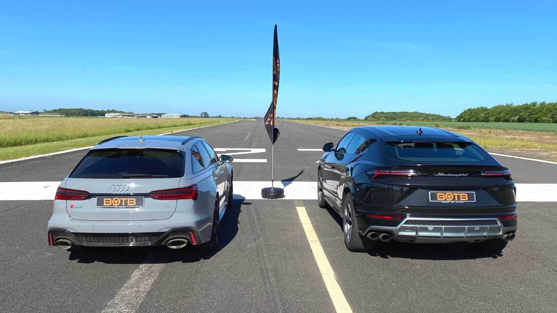 Lamborghini Urus Drag Races Audi RS6 Avant, And It's Not Even Close