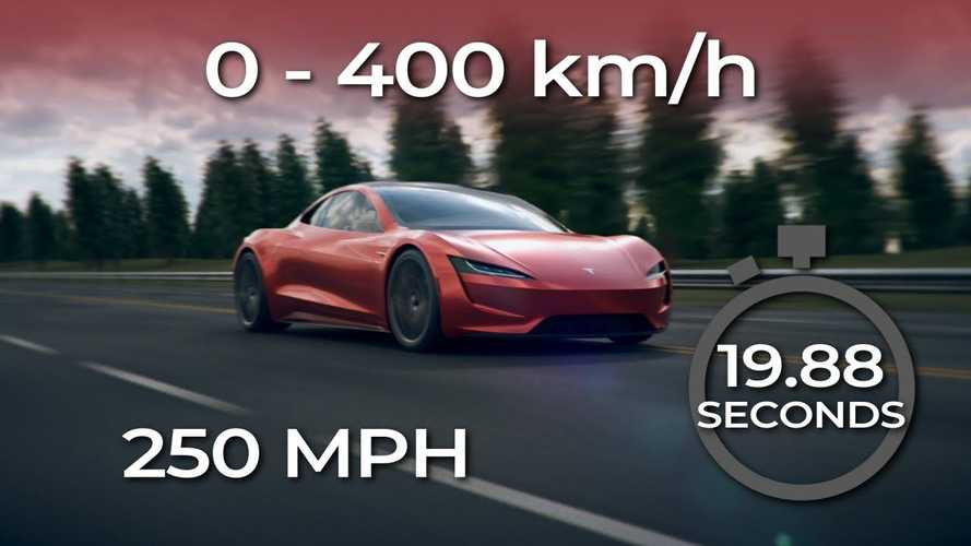Watch the Tesla Roadster rocket to 250 mph in this visualisation