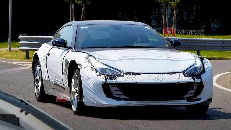 Ferrari podría estar probando el tren motriz del Purosangue