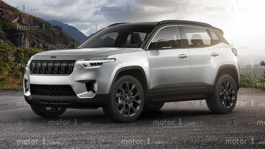 Jeeps neues SUV unterhalb des Renegade für 2022 als Rendering