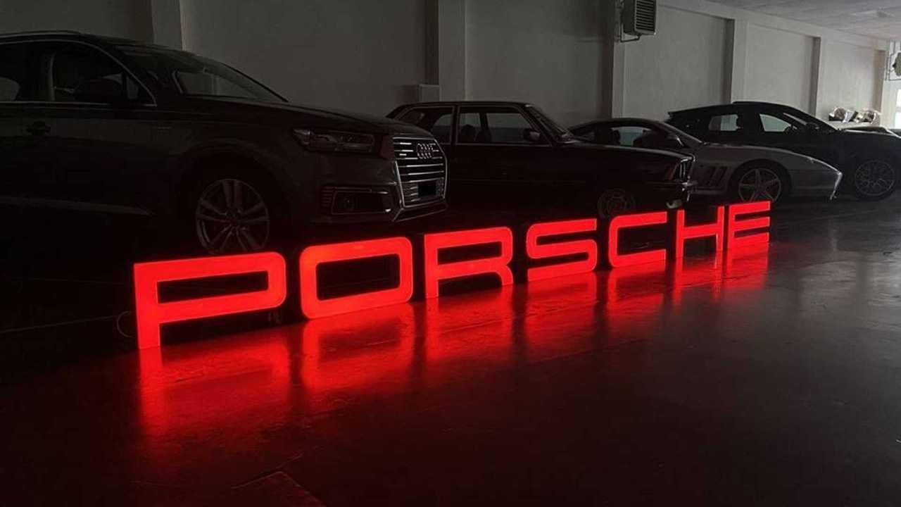 Porsche Sign Illuminated