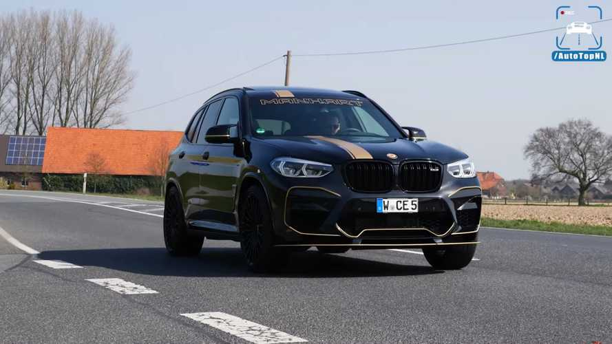 Watch BMW X3M Competition by Manhart effortlessly reach 185 mph
