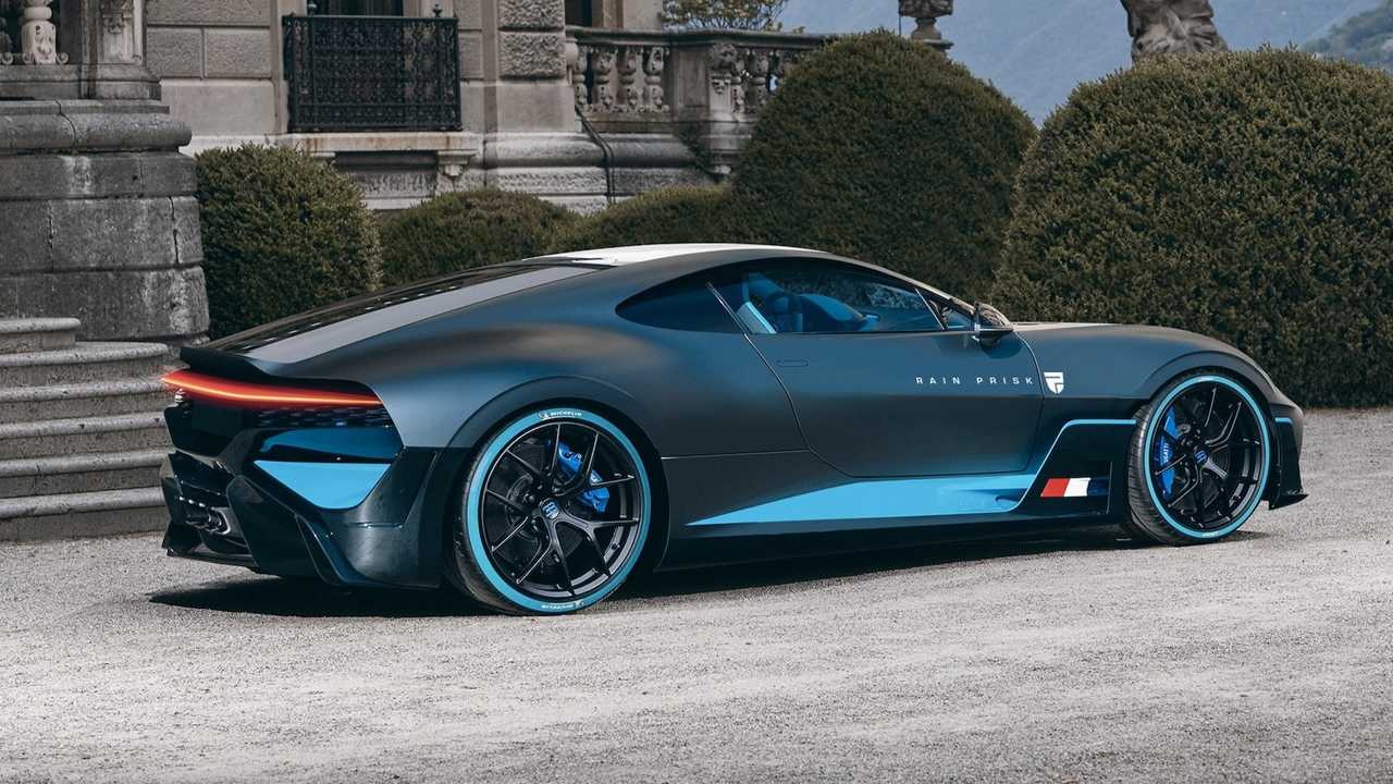Front-Engine Bugatti Divo Rendering