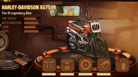 Ride A Harley XG750R Flat-Tracker In Hilarious Trials Game