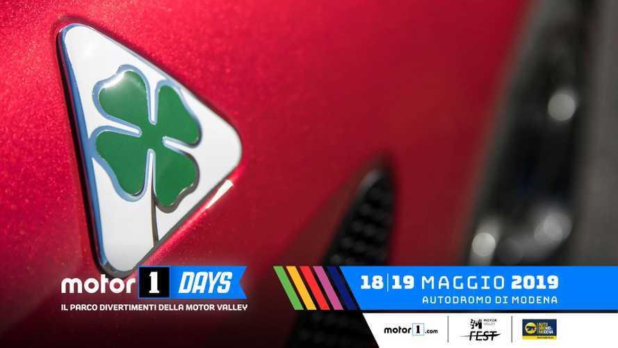Alfa Romeo ai Motor1Days 2019, dal palco alla pista