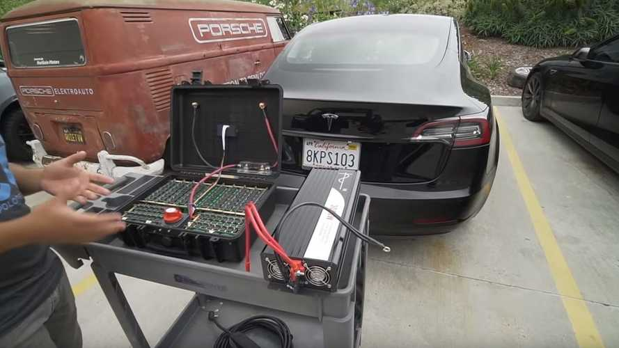 "A DIY Tesla ""Gas Can"" (Portable Suitcase Battery)? Say What"