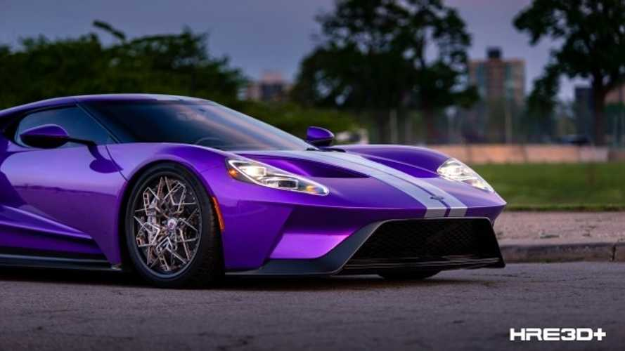 Stunning purple Ford GT has next-gen 3D-printed titanium wheels