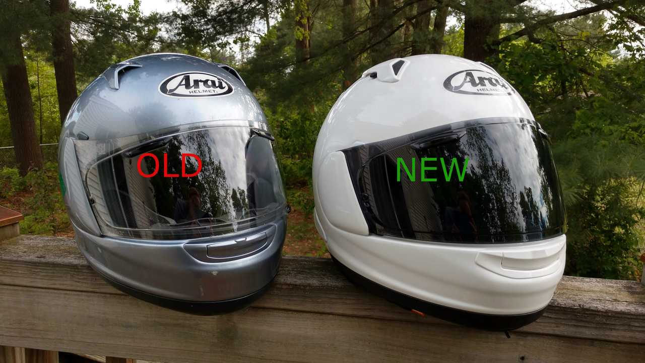 Old Vs New Arai