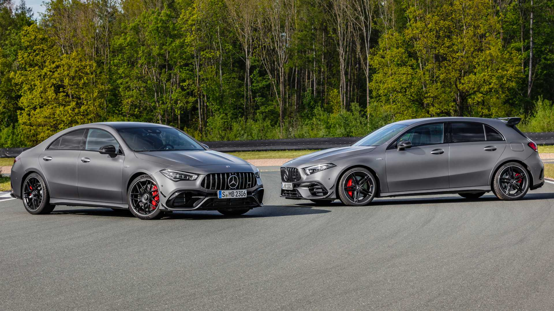 Mercedes Amg A45 S Cla 45 S Hit The Track In Official Videos